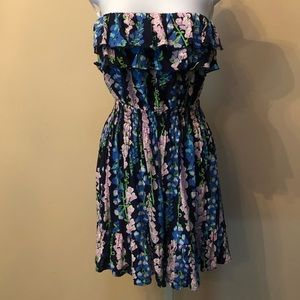 Lilly Pulitzer floral strapless dress XS